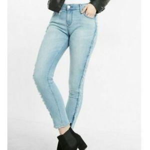 Express Ankle Legging Jeans Fringe